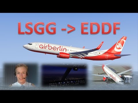 VATSIM: IFR Flight Example: Geneva to Frankfurt! FULL ATC!!