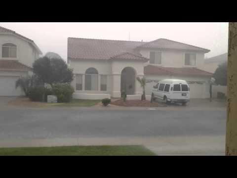 Arizona monsoons front yard
