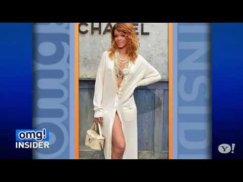 Rihanna Wears Nearly Nude Outfit To Chanel Fashion Show video