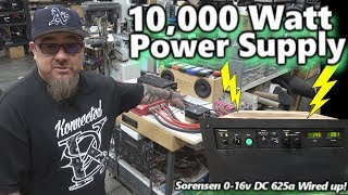 Major Test Bench Upgrade! 10,000 Watt DC Power Supply! Sorensen DCR-16-625T