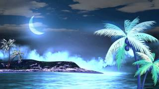 HD Relax Natural Moon Water Animated Background Video Downloads