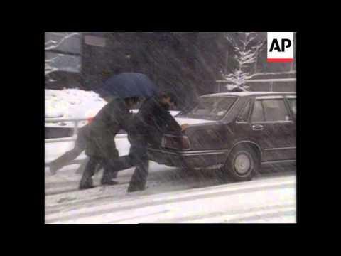 JAPAN - TOKYO SNOWSTORM