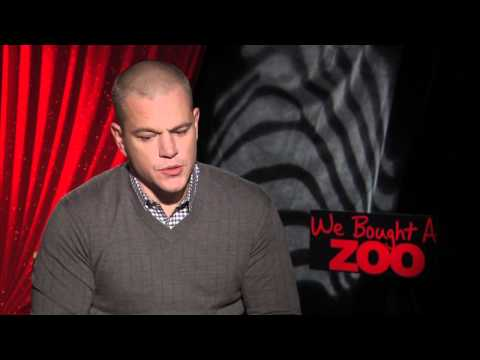 Matt Damon, Scarlett Johansson, Cameron Crowe interviews for WE BOUGHT A ZOO