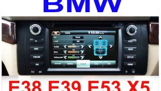 2012 model BMW E38 E39 E53 X5 DVD GPS SatNav Sat Nav OEM Replacement stereo radio
