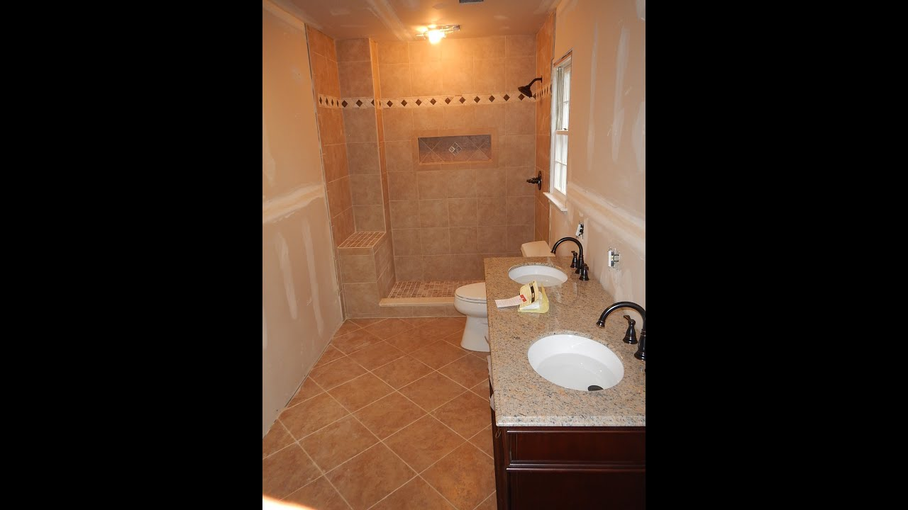 Bathtub to shower conversion full bathroom youtube for Full bathroom ideas