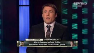 Chael Sonnen trashes Alistair Overeem