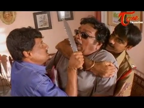 Khadgam Comedy Scene | Ravi Teja Kidnaps Giri Babu To Narrate A Story video