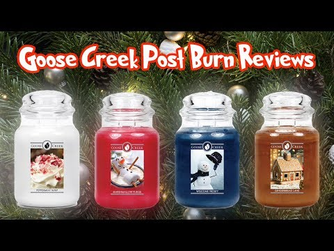 Goose Creek Christmas Candles Post Burn Review   Holiday 2018