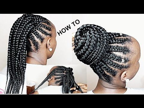 HOW TO CORNROWS FOR 4 BEGINNERS