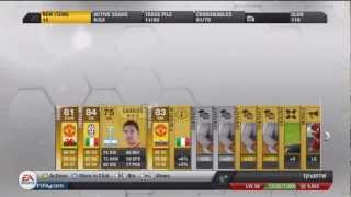 Fifa 13 pack opening Chiellini and valencia My best pack so far