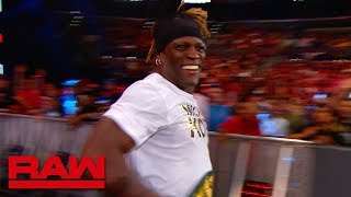 R-Truth runs to safety during the commercial break: Raw Exclusive, June 17, 2019