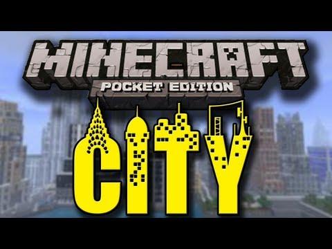 City In Minecraft Pocket Edition - w/ Stellar Musical Performance Ending