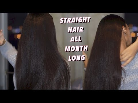 How to maintain Straighten Natural Hair and make it last for a MONTH!