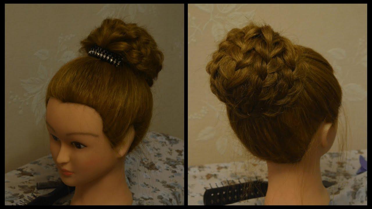Вечерние причёски на длинные волосы с валиком