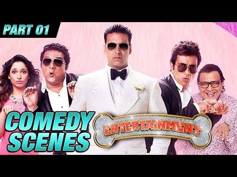 Entertainment Comedy Scenes  Akshay Kumar, Tamannaah Bhatia, Johnny Lever  Part 1
