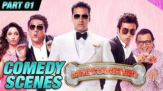 Entertainment Comedy Scenes | Akshay Kumar, Tamannaah Bhatia, Johnny Lever | Part 1
