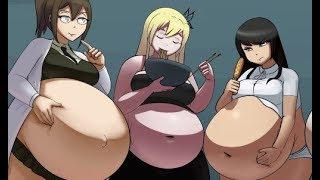Stuffing Sena (version II) by Metallforever (weight gain comics) chubby anime weight gain