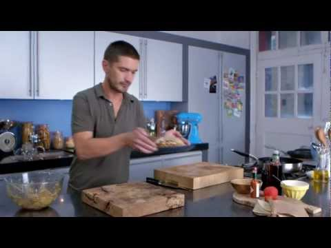 Andy Bates shows how to create - Cerviche Tacos from the FoodNetwork UK