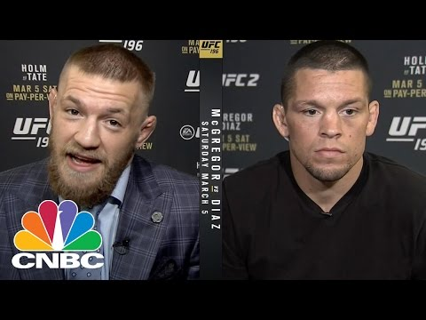 UFC's McGregor And Diaz Talk Trash And Money | CNBC