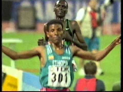 Haile Gebrselassie - World 10,000m Final, Athens 1997 - Post Race