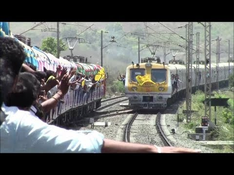 Historic Moment!! Local Train Crosses Local Train BEYOND Virar...