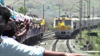 Historic Indian Railways Moment! Local Train Crosses BEYOND Virar For The First Time!!