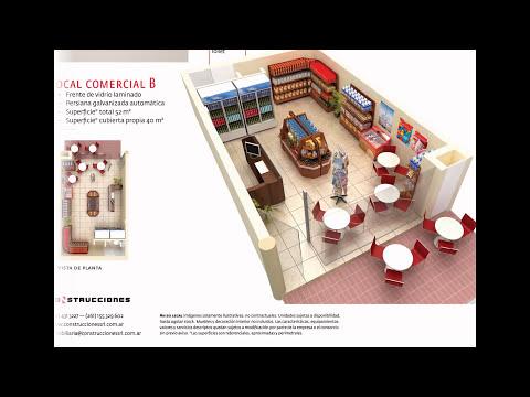 Edificio CONSTRUCCIONES 12 - Planos 3D de DPTOS y LOCALES COMERCIALES