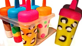 How To Make Play Doh Ice Cream Popsicles with Molds Fun and Creative for Kids