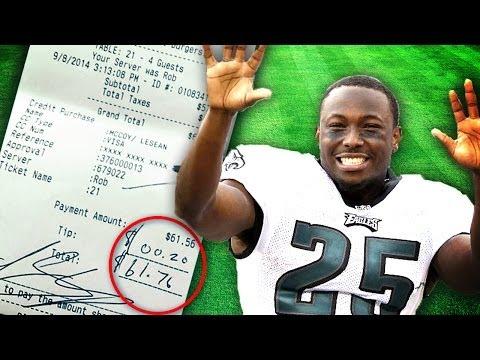 NFL Player Leaves 20 Cent Tip Charlie Sheen Says Nope!