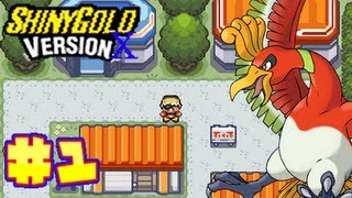 Let's Play Pokemon Shiny Gold Version X Part 1 - New Bark Town