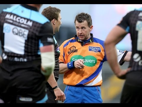 Nigel Owens lays down the law - Munster v Glasgow Warriors 12th April 2014