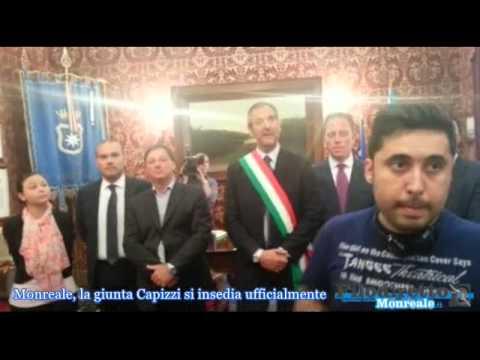 Insediamento ufficiale del sindaco Piero Capizzi e degli assessori - filodirettomonreale.it
