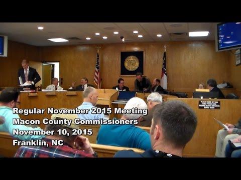 Macon Co Commissioners - Nov 2015