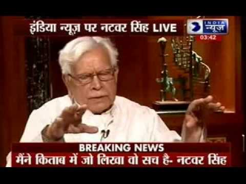 India News Exclusive interview of Natwar Singh with Deepak Chaurasia
