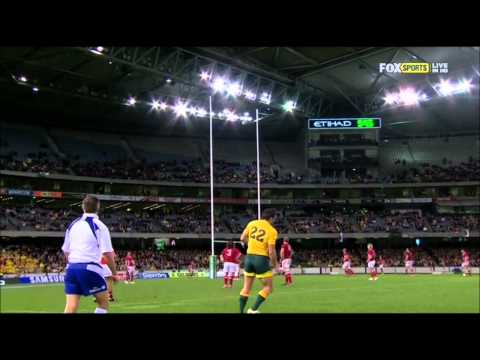 Mike Harris' kick vs Wales | June Internationals Highlights 2012