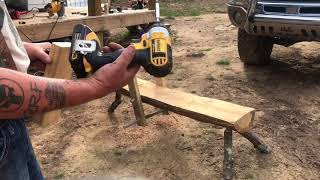 Building a shave horse pt2
