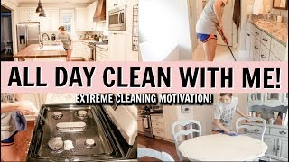 ALL DAY CLEAN WITH ME 2019   EXTREME CLEANING MOTIVATION   Amy Darley