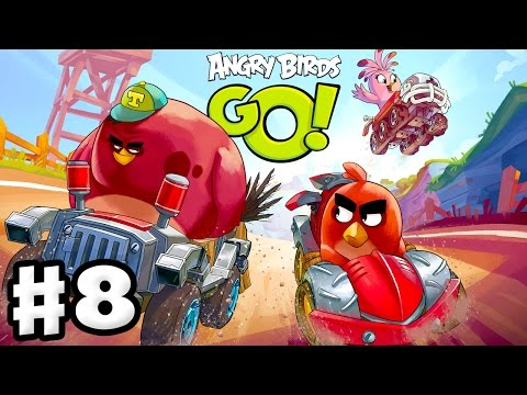 Angry Birds Go! 2.0! Gameplay Walkthrough Part 8 - Chuck Race! 3 Stars! (iOS. Android)