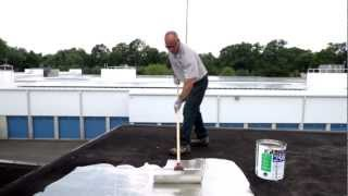 How to apply 298 Rubberized Aluminum Roof Coating to Protect a Flat Roof - Reflective - KARNAK