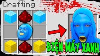 Minecraft - Cách Triệu Hồi ĐIỆN MÁY XANH Trên Bàn Chế Tạo!!