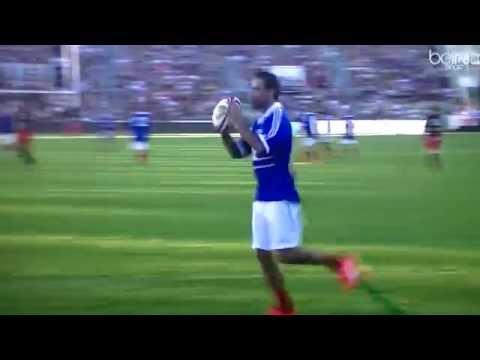 Zidane ahora juega al rugby y marca tries