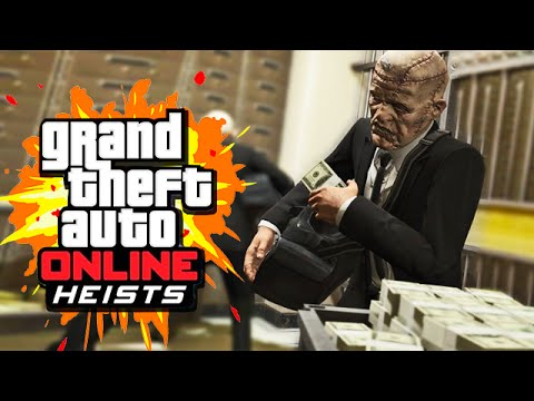 THE BIG BANK ROBBERY (GTA 5 Heists Funny Moments) #3
