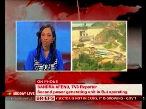 Midday Live Bui Dam Generating Plant Begins Operation - 30 07 2013 video