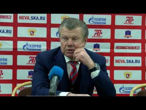 ВХЛ. СКА-Нева - Рубин 0:2 пресс-конференция 21.03.2017