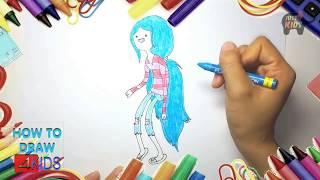 Vẽ Marceline trong phim hoạt hình Giờ phiêu Lưu I How to Draw Marceline in Adventure Time