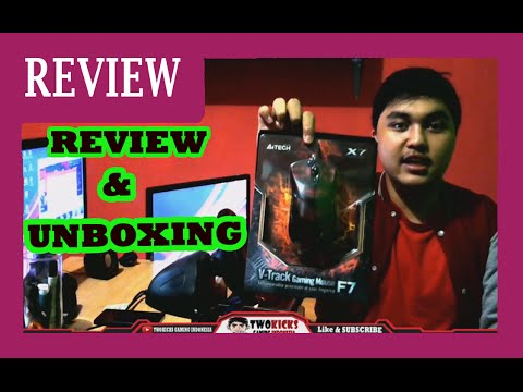 A4Tech X7 - VTrack Gaming Mouse F7 | Unboxing + Review Indonesia #4