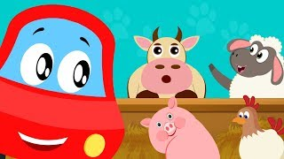 Little Red Car | Learn Animal Sound Video For Kids & Babies