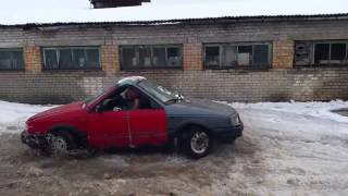 crazy double sided russian car