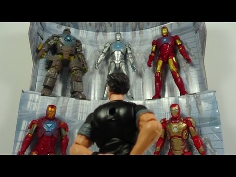 Iron Man 3 Hall of Armor Amazon Exclusive 3 3/4 Inch Box Set Figure Review