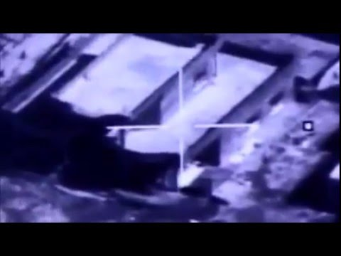 Iraqi Air Force F16 strikes destroy ISIS weapons storage facility near Mosul